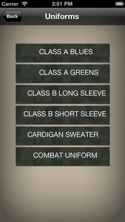 Uniform Guide Army