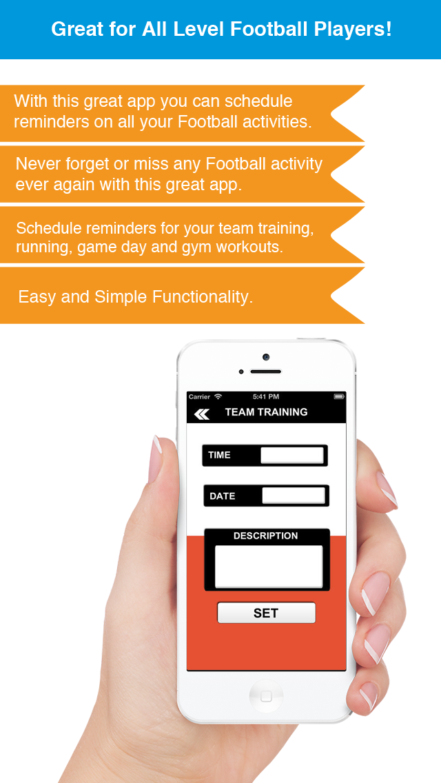 Football Reminder App - Timetable Activity Schedule Reminders-Sport screenshot two