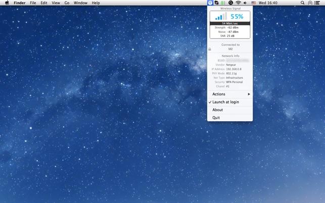 Wireless Signal Screenshot
