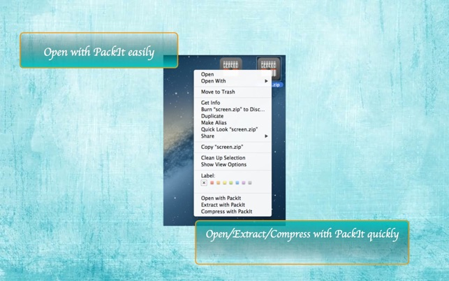 PackIt - Preview, Compress and Decompress 7z, zip, rar,    files