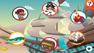 農行海盜!兒童遊戲: 學習 寫文字,並與海盜,船長,鸚鵡,百寶箱,鱷魚和船舶在海洋中的字母。免費,新,學習,幼兒園,學前班和學校!屏幕截圖5