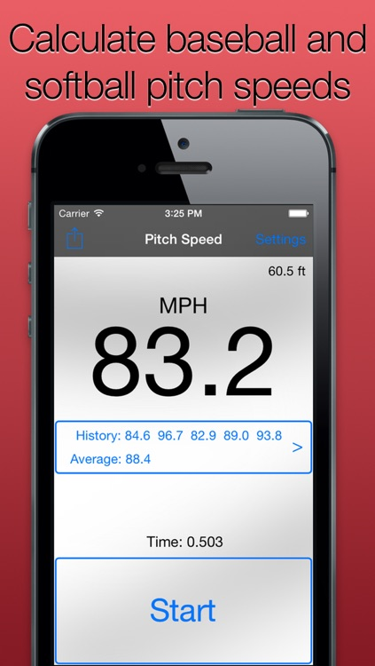 Pitch Speed for Baseball and Softball - Track How Fast like Radar Gun