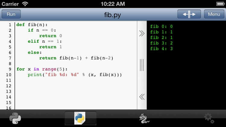 Python 3.2 for iOS screenshot-2