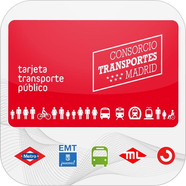 Tarjeta transporte p blico crtm en el app store for Oficinas del consorcio de transportes de madrid puesto 2