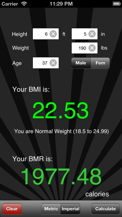 BMI / BMR Calculator screenshot-3
