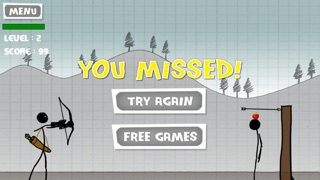 アップル射撃 - 無料ゲーム - 弓と矢 (Stickman Apple Shooting Showdown - Free Bow and Arrow Fun Doodle Skill Game)のスクリーンショット3