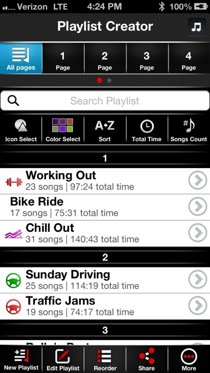 Playlist-Creator: The Ultimate Running, Driving, Workout, Dance, Party, and Relaxing Music Organizer! screenshot-4