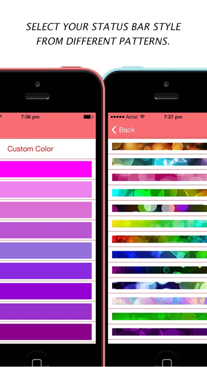 Color Dock Customizer - Colored Top and Bottom Bar Overlays for your Wallpaper screenshot-1