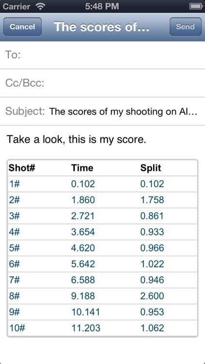 AIPSC Shot Timer (High performance shot timer) screenshot-3