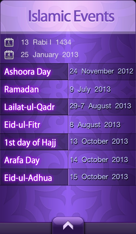 Islamic Calendar Pro - التقويم الإسلامي المطور screenshot-4