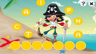 農行海盜!兒童遊戲: 學習 寫文字,並與海盜,船長,鸚鵡,百寶箱,鱷魚和船舶在海洋中的字母。免費,新,學習,幼兒園,學前班和學校!屏幕截圖1