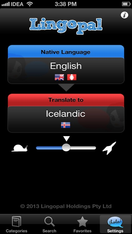 Lingopal Icelandic LITE - talking phrasebook