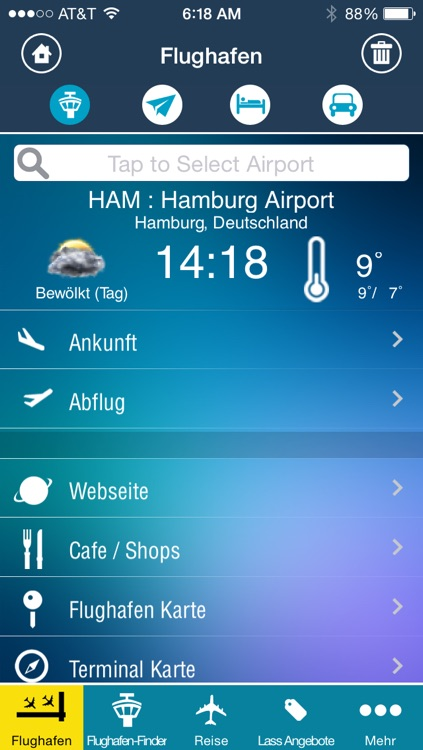 Hamburg Airport + Flight Tracker