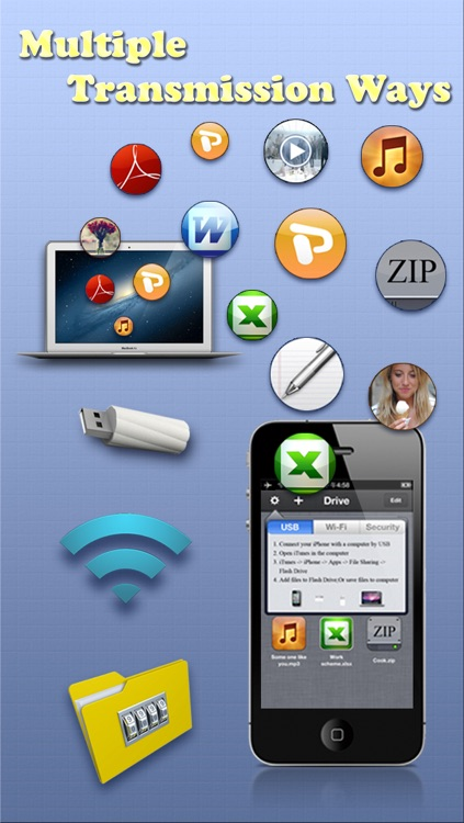 USB & Wi-Fi Flash Drive – Free Document Manager & iFile Explorer App screenshot-4