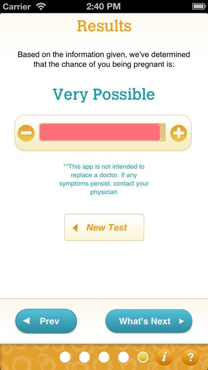 Pregnancy Test & Pregnant Symptom Checker Quiz