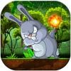 Bunny Jungle Jump & Fire Throw - Jumping Rabbit & Flying Burning Ball FREE FUN
