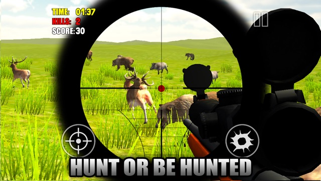 Animal Hunter 2014 3D - Sniper Shooting Gun Down Deer, Boar, Fox, Bear & More Simulator Game Screenshot