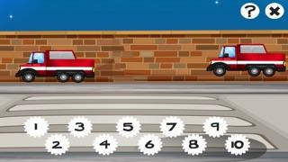 123數學遊戲學校兒童和嬰兒:第一任務和學習與消防和警察計數屏幕截圖3