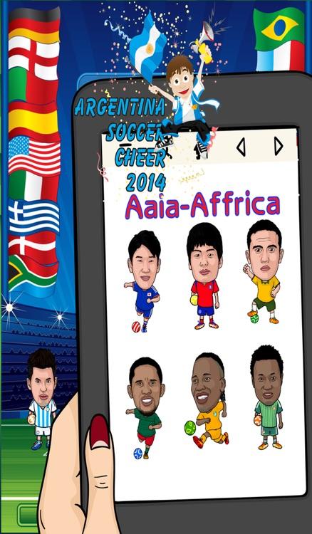 Argentina World Soccer Cheer 2014 - Latinoamérica Foto Fútbol Argentino Sticker Booth Frames in Braziil screenshot-4