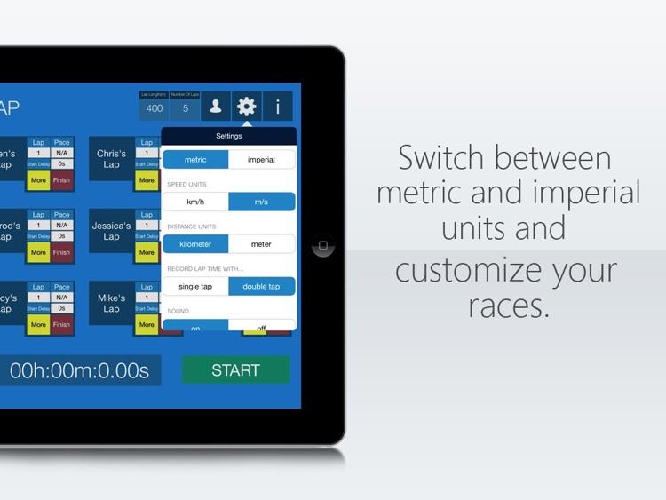Run Lap Tap HD - Multiple Runner Lap Timer & Stopwatch