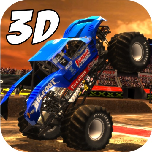 Real Crazy 3D Monster Truck Run: Extreme Offroad Highway Legends- Free Racing Game iOS App