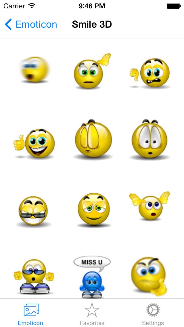 Animated 3D Emoji Emoticons - SMS WhatsApp Smiley Faces Stickers - Animoticons  Free Screenshot
