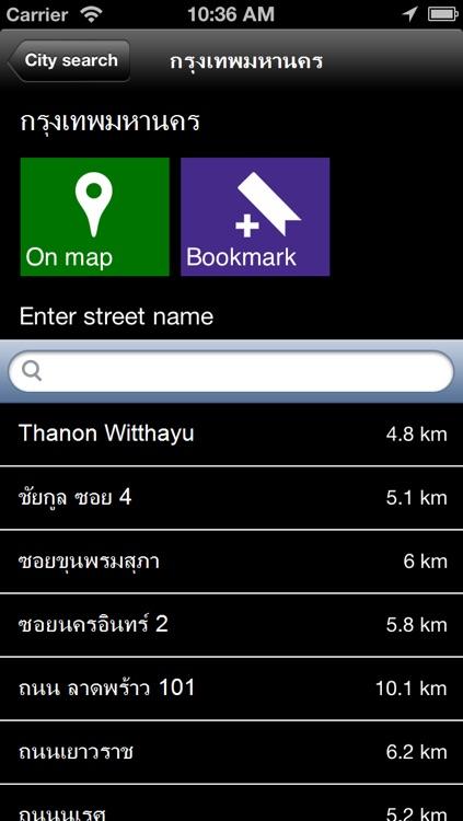 Offline Bangkok, Thailand Map - World Offline Maps screenshot-4