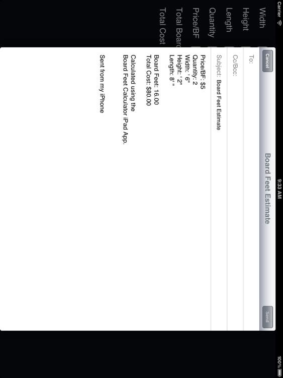 Board Feet Calculator for iPad screenshot-3