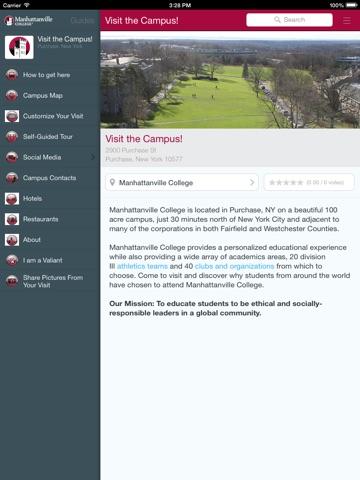 Manhattanville College App-ipad-0