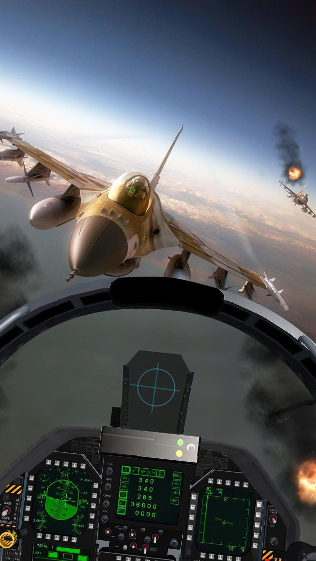 Modern Sky Storm: F18 Simulator Shooting Air-plane Jet