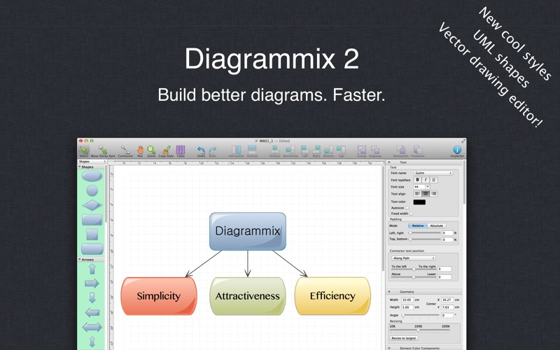 Diagrammix review screenshots
