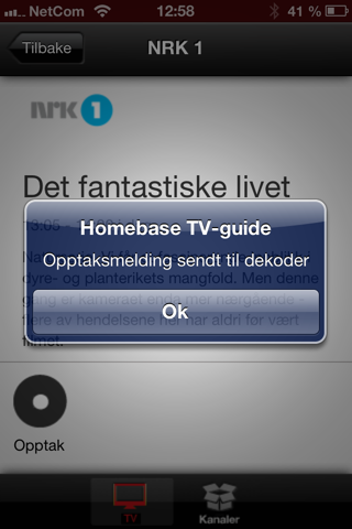 Homebase TV-guide screenshot 4