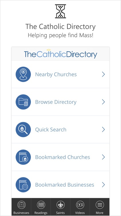 Catholic Mass Times Church Directory