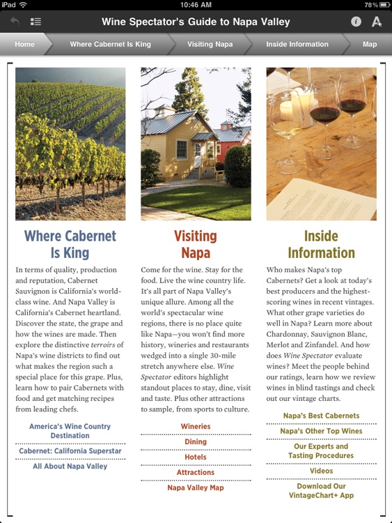 Wine Spectator's Guide to Napa Valley screenshot-1