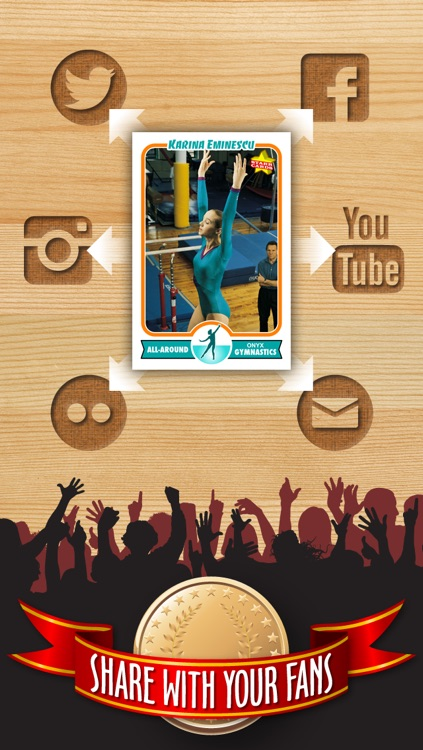 Women's Gymnastics Card Maker - Make Your Own Custom Gymnastics Cards with Starr Cards screenshot-3