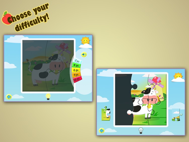 Farm Jigsaw Puzzles 123 for iPad - Fun Learning Puzzle Game for Kids screenshot-1