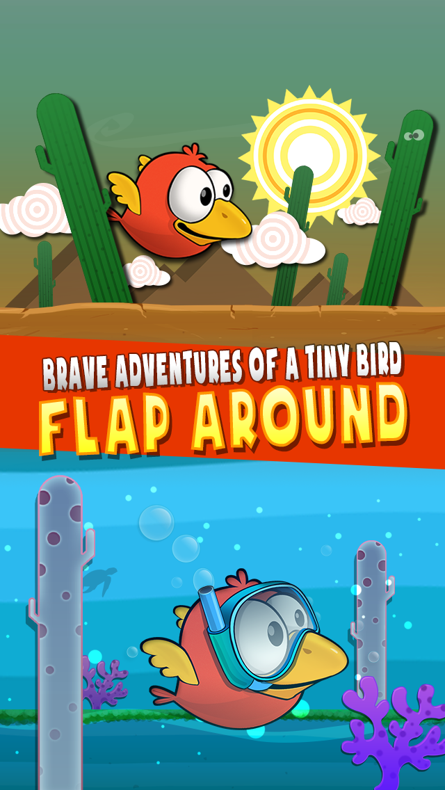 Brave Adventures of a Tiny Bird: Flap Around