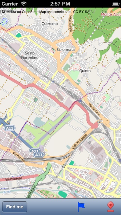 Firenze (Florence) Street Map. screenshot-0