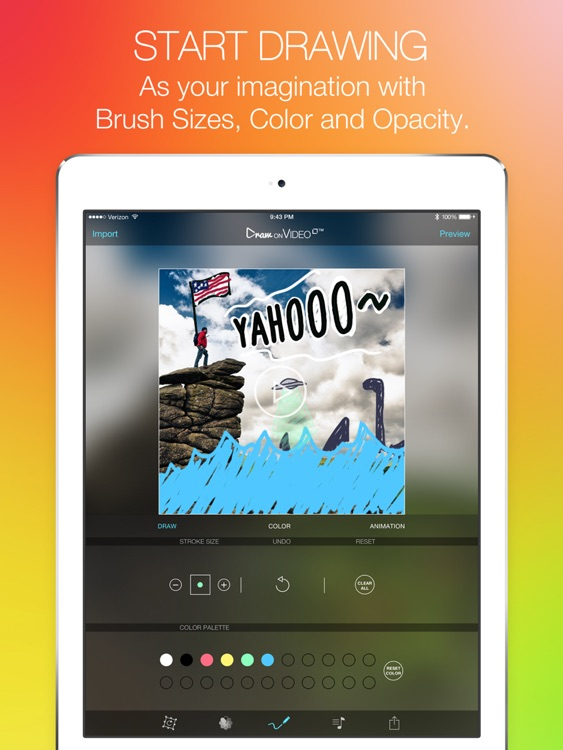 Draw on Video Square FREE - Paint and Drawing Funny Doodles