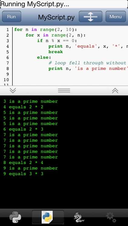 Python 2.5 for iOS screenshot-2