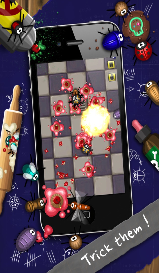 Pocket Bugs - The wild tapping game with cute weapons Screenshot