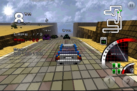 3D Pixel Racing screenshot-1