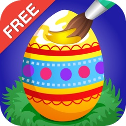 Easter Coloring Free : Paint the Eggs, rabbits and chickens