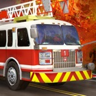 Fire truck driver - 3D parking icon