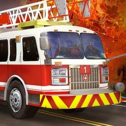 Fire truck driver - 3D parking