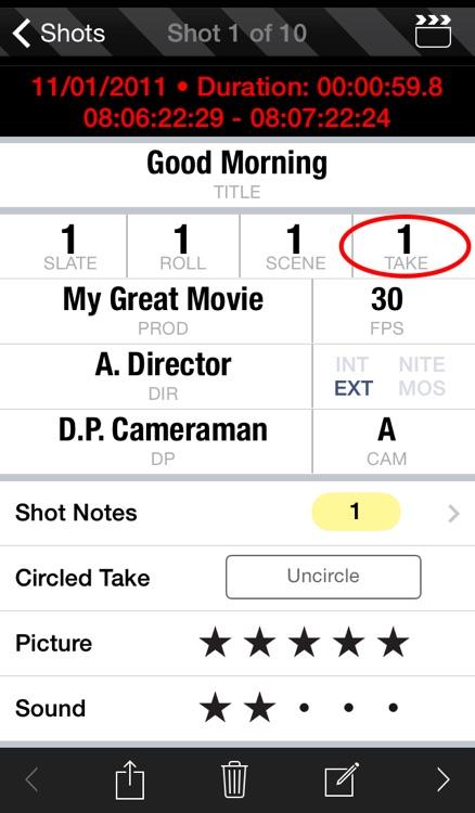 MovieSlate® 7 (Clapperboard & Shot Log) screenshot-3