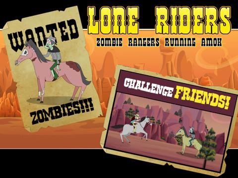 Lone Riders: Zombie Rangers Running Amok-ipad-1