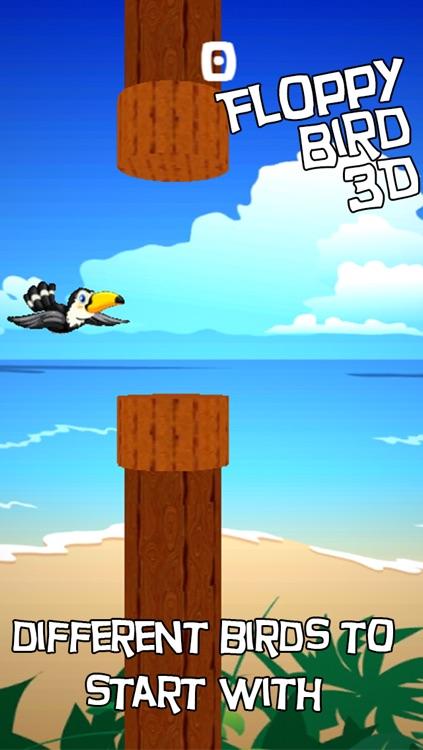 Floppy Bird 3D - infinity running birds in sky screenshot-3