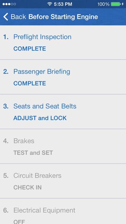 Pilot's Checklist Cessna 172 Skyhawk screenshot-3