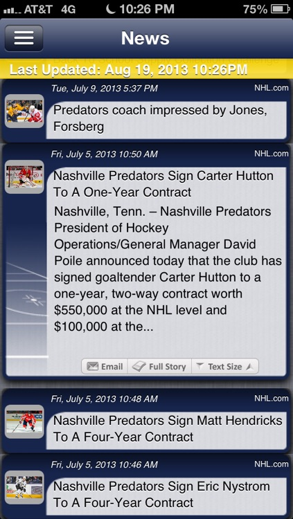 Nashville Hockey Live screenshot-3